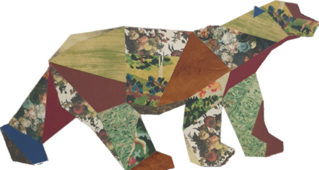 déco murale ours pompon